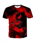 BIANYILONG Dark Red Venom 3D Polyester O Neck Knitted T Shirts