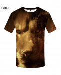 KYKU Lion Canvas Polyester Animal Spandex 3d T Shirts Design 13