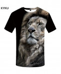 KYKU Lion Canvas Polyester Animal Spandex 3d T Shirts Design 4